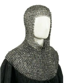NauticalMart Armor Chainmail Coif - Dome Riveted Blackend Flat Rings Silver One Size Discount Ray Bans, Discount Toms, Coach Discount, Diy Crochet Sweater, Classroom Coupons, Chainmail Armor, Band Hoodies, Best Football Team, Halloween News