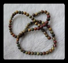 5mm,14.90g Multi Color Picasso Jasper  Loose Beads,1 Strand,40cm in the Lenght