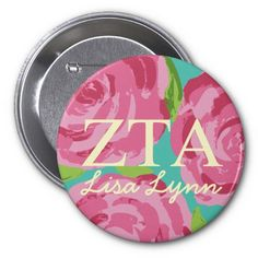 Sorority Lilly Pulitzer Button