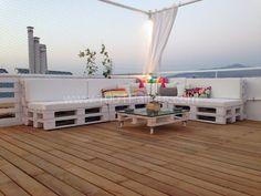 Pallet Roof Terrace Lounge