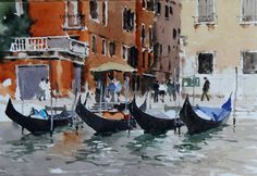 The artist John Yardley and his works available from Alexander Gallery Watercolor Architecture, Watercolor Landscape, Watercolor And Ink, Watercolour Painting, Watercolours, Rome Italy, Venice Italy, Amazing Drawings, Amazing Art