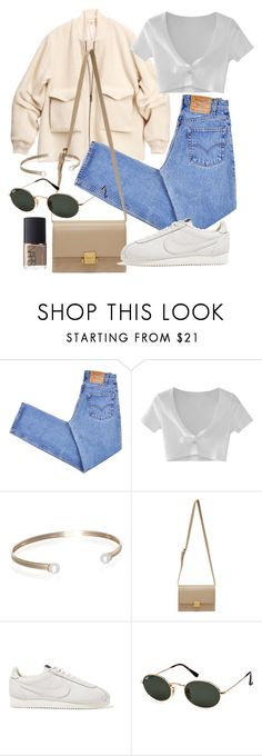 """Untitled #22137"" by florencia95 ❤ liked on Polyvore featuring H&M, Levi's, WithChic, Belk & Co., Yves Saint Laurent, NIKE, Ray-Ban and NARS Cosmetics"