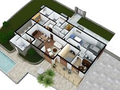 LOWER FLOOR 3D PLAN