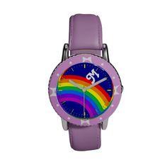 Rainbow and Monogram Wristwatch