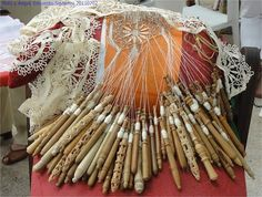 Bobbin lace...I don't know if I would have the time it takes