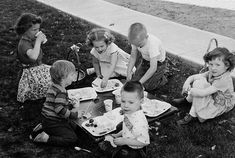 Happy Easter (almost)! .  Heres a #throwback to an #Easter picnic on the lawn in Council Bluffs IA April of 1957. The Evans and Weaver families loved to get together and this was no exception. (The picnic table with the legs folded up on the grass cracks me up)! .  L to R Back: Nancy Evans Jan Weaver Gary Weaver Kay Evans; L to R Front: Julie Weaver(?) Jim Evans .  I am happy that my dad took this photo because this experience is not in my #memory at all! But I do remember the fun we had…
