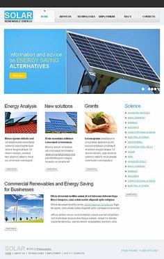 Solar Energy Facebook HTML CMS Templates by Sawyer Solar Energy, Save Energy, Environment, Templates, Facebook, Website, Solar Power, Stencils, Template