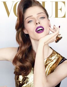 cococover3 Coco Rocha Goes for the Gold on Vogue Mexicos December 2012 Cover