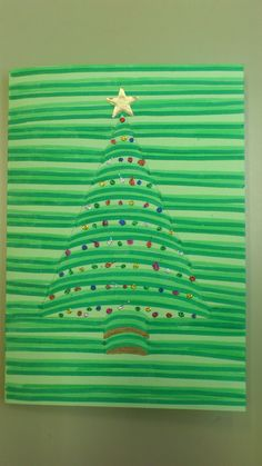 Christmas Art Project for kids Christmas Art Projects, Christmas Arts And Crafts, Winter Art Projects, Noel Christmas, Christmas Activities, Winter Christmas, Holiday Crafts, Christmas Cards, Christmas Decorations