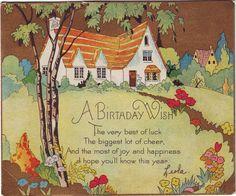 Art Deco Cottage Postcard