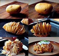 Kartoffeln mit Käse und Crem fraiche überbacken!