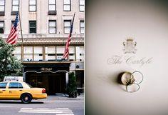 Black Tie Manhattan Wedding at The Carlyle via OnceWed