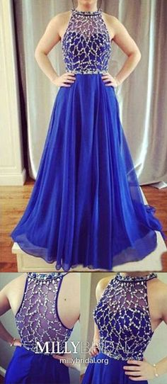 Blue Prom Dresses Tulle, Long Formal Evening Dresses A Line, Chiffon Military Ball Dresses Modest, Crystal Pageant Graduation Party Dresses Beading Cheap Pageant Dresses, Modest Formal Dresses, Formal Dresses For Teens, A Line Prom Dresses, Tulle Prom Dress, Chiffon Dress, Chiffon Beading, Party Dresses, Prom Gowns