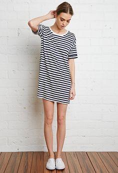 Striped T-Shirt Dress   Forever 21   #triedandtrue
