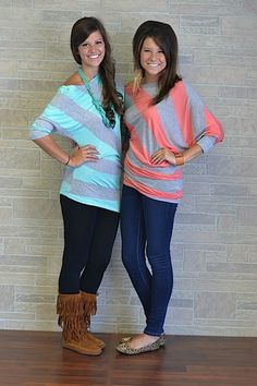 These sweaters are the perfect transition for fall! Available online sometime between 8/7-8/11