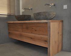 Badmeubel op maat - RestyleXL Double Vanity, Cabinet, Interior Design, Bathroom, Storage, Inspiration, Furniture, Home Decor, Google
