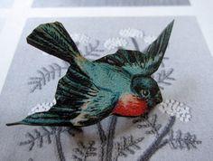 swooping bird brooch