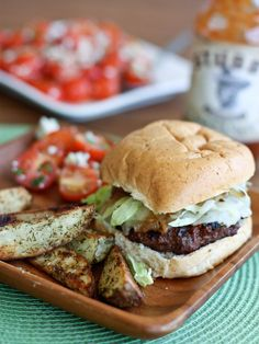Grilled Barbecue Bison Burger from @Aggie's Kitchen