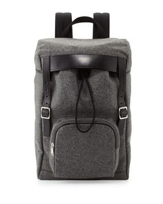 Saint Laurent Men's Hunting Flannel Backpack
