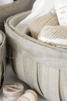 Baskets from Jeanne d'Arc Living.