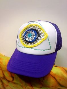 Pop tab All Seeing Eye hat, created and made by Sunny.