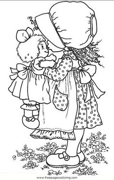 Sarah Kay With Raggedy Ann Doll Coloring Page /sarah_kay/sarah_kay_06.JPG