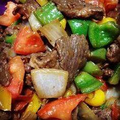 "Chinese Pepper Steak | ""Slam bam thank you mam! Easy to make family loves it!!! Added fresh garlic and mushrooms, with a little more soy to taste!!!"""