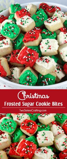 Sugar Cookie Bites - these yummy Christmas Treats are so easy to decor. Christmas Sugar Cookie Bites - these yummy Christmas Treats are so easy to decor.Christmas Sugar Cookie Bites - these yummy Christmas Treats are so easy to decor. Christmas Sugar Cookies, Christmas Snacks, Christmas Cooking, Christmas Goodies, Holiday Cookies, Holiday Treats, Holiday Recipes, Christmas Recipes, Christmas Candy