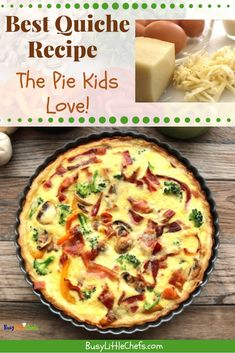 28 ideas breakfast ideas with eggs cheese bacon for 2019 Best Quiche Recipes, Egg Recipes, Brunch Recipes, Breakfast Recipes, Cooking Recipes, Bacon Breakfast, Breakfast Ideas, Quiches, Lunches