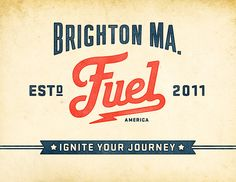 Fuel, a traditional coffee shop in Brighton, MA. Brand design by Richie Stewart and Commoner, Inc.