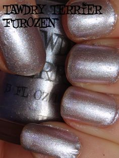 """@TawdryTerrier """"Furozen"""" (SOLD OUT) in the sun - check out our available polishes at https://www.etsy.com/shop/TawdryTerrier #nailpolish #indienailpolish #tawdryterrier"""