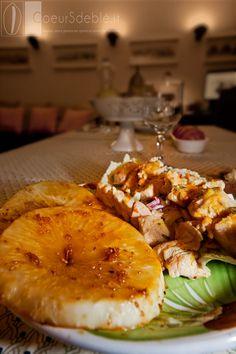 Bistecche di Sedano Rapa in Salsa Teryaki, con insalatina di Tacchino all'arancia