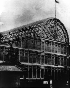 Daguerreotype of the Grand Entrance to Paxton's 1851 Crystal Palace at Hyde Park Hyde Park, Fine Art Prints, Framed Prints, Canvas Prints, Glass Structure, Crystal Palace, Gifts In A Mug, Poster Size Prints, Fine Art
