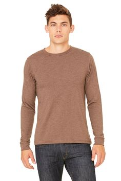 Zara Yoga Studio  LA  Men's Jersey Long Sleeve Tee (Small /Heather Brown). A super-soft and lightweight men's long sleeve// Yoga Clothing // Discount Yoga Apparel // Yoga Apparel Brand // Bikram Yoga Apparel. 100% combed ring-spun cotton, 30 single 4.2 oz./yd2// Discount Yoga Clothes // Yoga clothes brand // Hot Yoga Clothes // Yoga Clothes Clearance // Bikram Yoga Clothes. (Ash - 99% combed and ring-spun cotton 1% poly, Ath// Fitness Clothing Brand // Workout Clothing // Womens & Mens...
