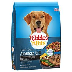 Kibbles 'n Bits American Grill Grilled USA Beef Steak Flavor Dry Dog Food, 15-Pound >>> Details can be found by clicking on the image.
