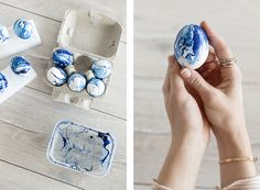 Easter is around the corner so let me serve you a trendy Easter Egg Idea: The Marble Look. + of course the tutorial how to make them. Easter Eggs, Diy Ideas, Gemstone Rings, Marble, Projects, How To Make, Log Projects, Granite, Craft Ideas