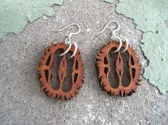 #riciclo creativo #noci - orecchini #DIY #earrings #nuts