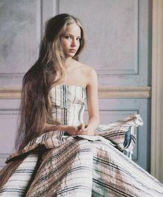 """""""ruslana korshunova by richard bush for a magazine curated by yohji yamamoto """""""