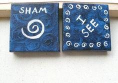 Third-Eye Chakra Mini Paintings / Set of 2 Small by SubtleHarmony