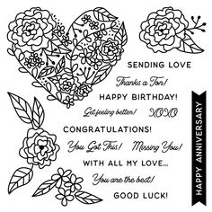 With All My Love CTMH October 2020 SOTM You Got This, My Love, Good Luck, Close To My Heart, Congratulations, Stamps, October, Happy Birthday, Thankful