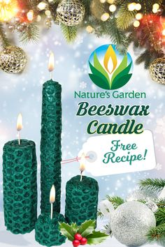 Free beeswax candle recipe.  How to instructions of how to make beeswax pillar candles, beeswax votive candles, and beeswax taper candles.