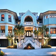 CURB APPEAL – another great example of beautiful design. Blue House, Manhattan Beach, California photo via best travel photos. Manhattan Beach California, Dream Beach Houses, House Goals, Beach Cottages, Myrtle, My Dream Home, Dream Homes, Dream Big, Future House