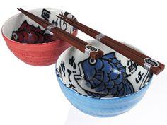Pair of Koi Donburi Bowl Gift Set for Two