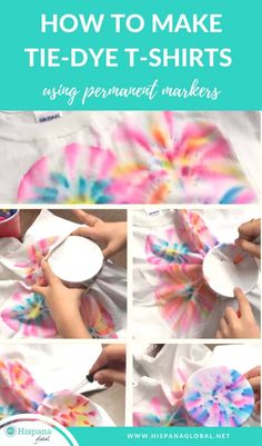 How To Make Tie-Dye Shirts With Markers - Hispana Global