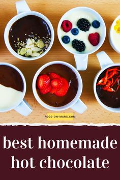 The perfect hot chocolate - Food On Mars Meal Recipes, Sweets Recipes, Quick Recipes, Healthy Desserts, Healthy Dinner Recipes, Real Food Recipes, Homemade Hot Chocolate, Hot Chocolate Recipes, White Chocolate