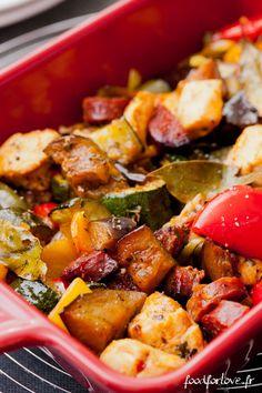 Légumes Confits au Poulet, Chorizo et Paprika Fumé