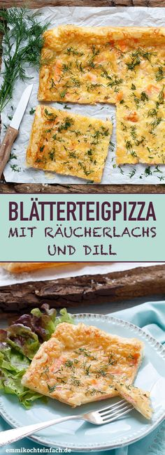 Quick puff pastry pizza with smoked salmon and dill - emmikochteinfach - Der Fo.- Quick puff pastry pizza with smoked salmon and dill – emmikochteinfach – Der Fo… Quick puff pastry pizza with smoked salmon and dill -… - Salmon Recipes, Lunch Recipes, Crockpot Recipes, Healthy Recipes, Pizza Recipes, Cake Recipes, Puff Pastry Pizza, Puff Pastry Recipes, Pizza Rapida