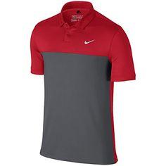 ec232d5a6eb7e Nike Golf Icon Color Block Polo (University Red Dark Grey XL)