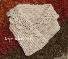 Paso a paso Cuello con doblez tejido a crochet English subtitles video Crochet\u2026