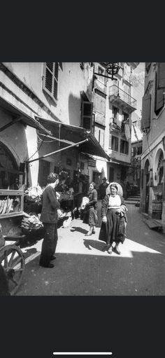 Corfu Town Corfu Greece In 1937 Corfu Town, Corfu Island, Corfu Greece, Greek Islands, Times Square, Street View, History, Travel, Greek Isles